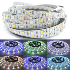 5M RGBW (RGB+White) 5050 LED Strip Light 12V RGBWW (RGB +Warm White) Tape Ribbon