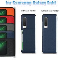 Genuine Leder Flip Case Hülle Schutzhülle Skin Cover für Samsung Galaxy Fold