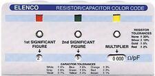 ELENCO CC-100 RESISTOR/CAPACITOR COLOR CODE CALCULATOR GUIDE