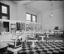 Old/Vintage/Antique 1910-'35 Washington DC Barber Shop Barber Pole/Chair-Photo