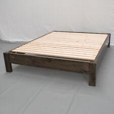 Rustic Farmhouse Platform Bed - King / Wood Platform Reclaimed Bed / Modern /