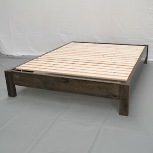 Rustic Farmhouse Platform Bed - King / Wood Platform Reclaimed Bed / Modern /