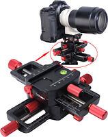 Universal 4-Wege Makro Kreuzschlitten Kamerahalterung für Stativ Stativkopf