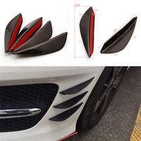 4PCS Delantero parachoques Lip Splitter Fins Body Spoiler Canard Valenc Cw
