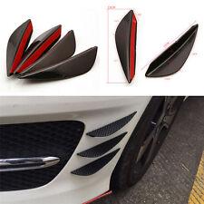 4 Pcs Universal Front Bumper Lip Splitter Fin Body Spoiler Canard Valence Chin A
