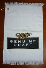 Miller Genuine Draft Bar Hand Sports-Towel brand White 100% Cotton golf bowling