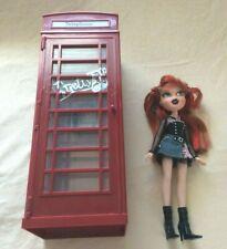 2005 Bratz Pretty N' Punk Megyan Doll with Bratz World London Phone Booth-works!