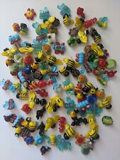 Lot of 100 Super Cute Glass Animal Beads 15 to 20mm DIY Charm Lampwork Spring