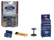 FORD 4 PIECES GARAGE TOOLS SET FOR 1/18 SCALE MODELS BY MOTORHEAD MINIATURES 583