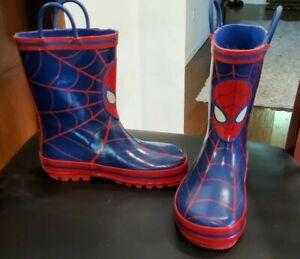 Disney Spiderman Rubber Blue Rain Boys Boots Eu Sizes