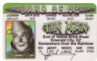 Jack Haley the Tinman Tin Man of The Wizard of Oz card Drivers License