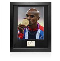 Framed Sir Mo Farah Signed Autograph Card -  London 2012 Olympics Autograph