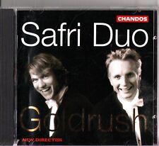 GOLDRUSH- Works For Percussion- CD- Safri Duo- Bach/Mendelssohn/Chopin/Ravel