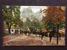 RP Vintage Postcard - London #H28 - The Row, Hyde Park - National Series, Horses