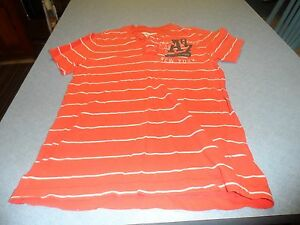 Aeropostale boys orange stripe size M pullover shirt