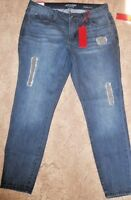 Jennifer Lopez JLO Skinny Ankle Mid Rise Jeans Distressed Destroyed  6 8 10 16