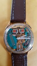BULOVA ACCUTRON 10K GF SPACEVIEW MENS WATCH RUNS FAST W/1.5V BATTERY