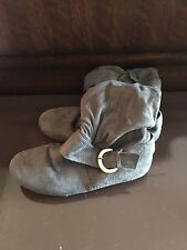 Gray Boots Size 9
