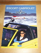 FORD ESCORT CABRIOLET FLAIR &  XR3i SALES BROCHURE  GERMANY 1995 KARMANN