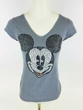Junior's Disney Raised Mickey Mouse Image Short Sleeve T-Shirt Medium