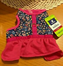 "Top Paw Pink Flowers Skirt Comfort Dog Harness X-Small 13"" to 16"""