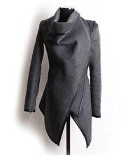 Cappotti e giacche da donna grigi senza marca in cotone