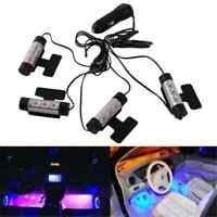 4x 3LED Decorative Car Charge Interior Accessories Floor Atmosphere Lamp Light