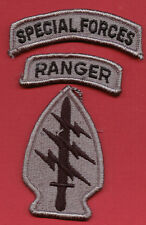 ARMY SPECIAL FORCES PATCH WITH SF & RANGER TABS ACU COLOR - SET OF 3 PIECES