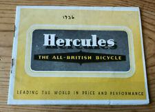 Original Hercules Cycles Catalogue 1936, VGC