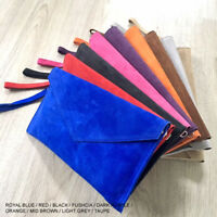 Royal Blue Wedding Clutch Bag Evening Bag Over Size Envelope Suede Made in Italy