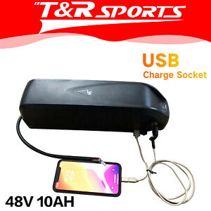 48V 10AH Battery for eBikes Electric Bike Scooter Mobility Bicycle DIY AU