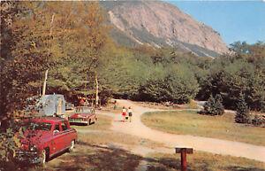 FRANCONIA NOTCH NH 1955 Scene @ LaFayette Campground VINTAGE NEW HAPSHIRE rl442