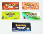 Pokemon GBA Replacement Labels Stickers SHINY FOIL METALLIC for Game Boy Advance