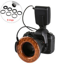 MeiKe LED Marco Ring Flash Light + 8 Adapter Rings for CANON Nikon Olympus Fuji