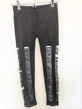 SOHO LADY Women's Leggings Brown With Cut Outs One Size