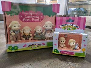 Calico Critters Lambrook Sheep Family + Lambrook Sheep Twins New Collectible