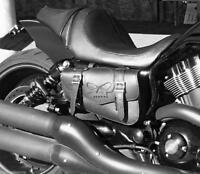 Sacoche laterale cuir tete de mort SKULL ( Harley V-rod Night-rod sportster HD )