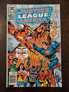 JUSTICE LEAGUE OF AMERICA #137 1976 F-/F+..1ST SUPERMAN AND SHAZAM MEETING!!