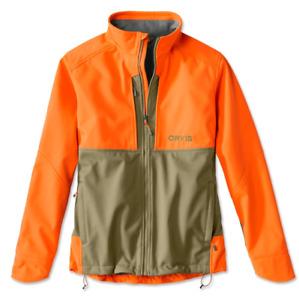 Orvis Men's Upland Hunting Softshell Jacket - Tan/Blaze