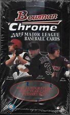 2003 BOWMAN CHROME BASEBALL SEALED HOBBY BOX