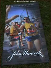 Boston Marathon 2013 Banner WOMAN RUNNING Showing Front and Rear RARE 60 x 30 EX