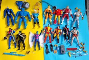 """1993 Toybiz Marvel Uncanny X-Men  5"""" Action 14 Figure Lot & Accessories"""