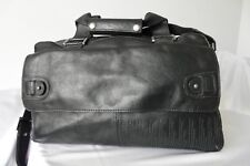 Hidesign Black Leather Holdall Overnight Duffle Travel Weekend Holiday Bag Rare