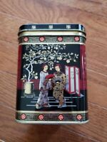 Red Black Gold Japanese Style Metal Tin - Made In England - Tea Tin?