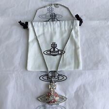 Vivienne Westwood Toxic Waste / Large Pink Shooting Star Orb Pendant Necklace