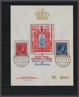 Luxemburg 1945 Spendenblock CARITAS