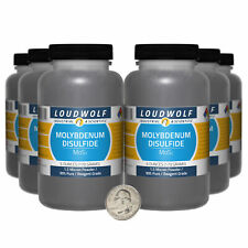 Molybdenum Disulfide / 2.3 Lbs / 6 Bottles / 99% Reagent Grade