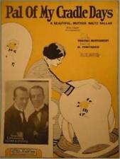Vintage Sheet Music Pal Of My Cradle Days 1925 Art Deco Cover To Frame