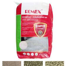 ROMEX Fugensand NP 25kg Sack Pflaster-Sand gegen Unkraut wasserdurchlässig