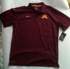 New Retro Nike Mens University of Minnesota Golden Gophers polo shirt L
